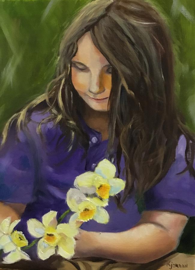 Livie Lou Painting by Karen Jordan