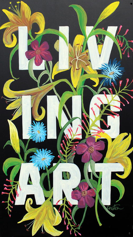 Floral Drawing - Living Art by Kirsten Beitler