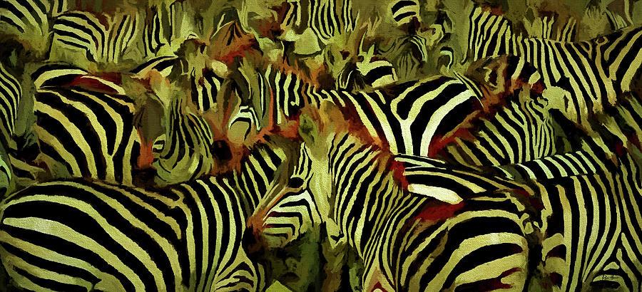Living Bar Codes - Zebras Digital Art