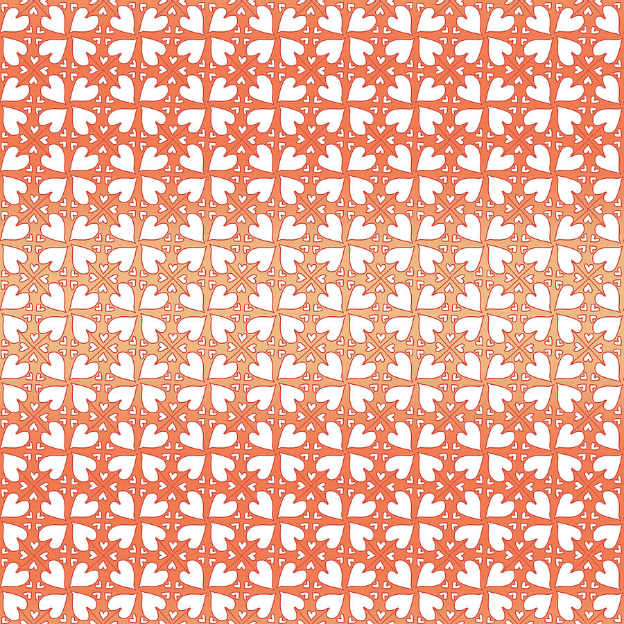 Living Coral Hearts Pattern by Gravityx9 Designs