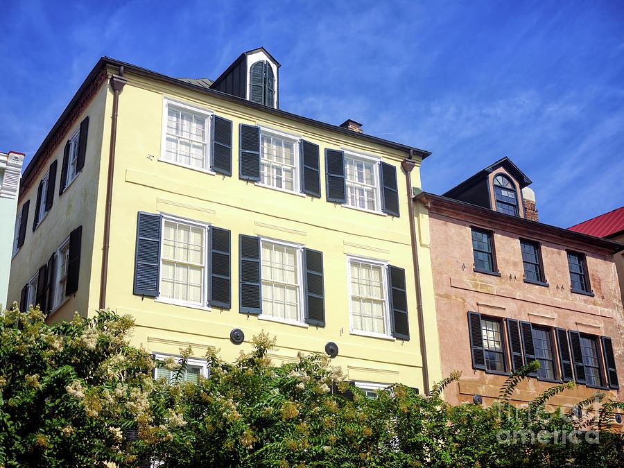 Windows Photograph - Living On Rainbow Row In Charleston by John Rizzuto