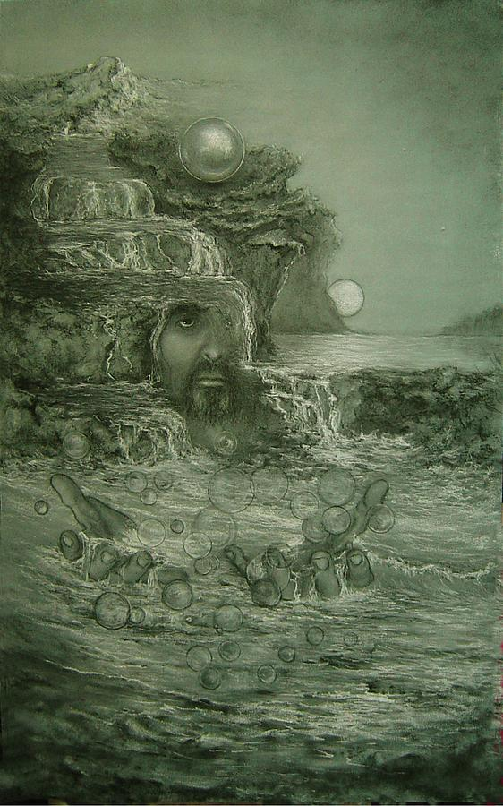 Consciousness Drawing - Living Water by James Berger