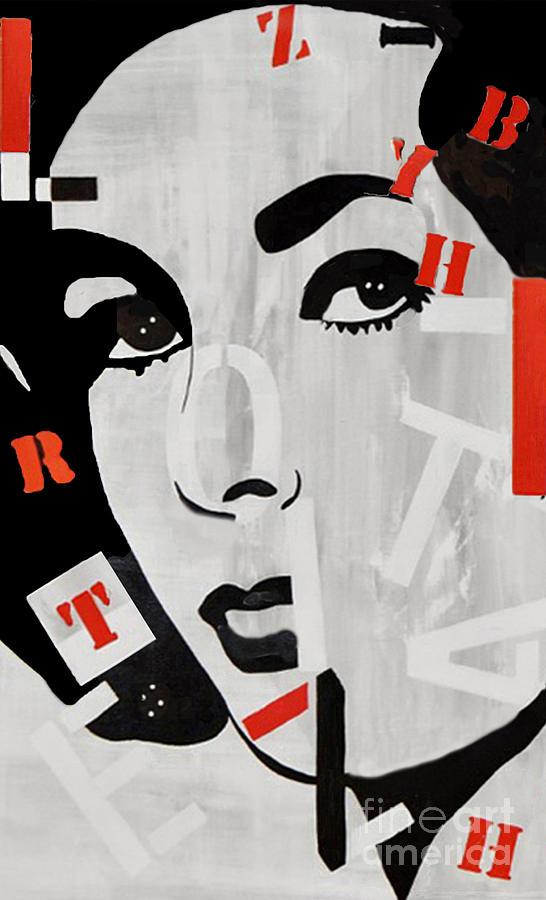 Elizabeth Taylor Painting - Liz Taylor by Kathleen Artist PRO