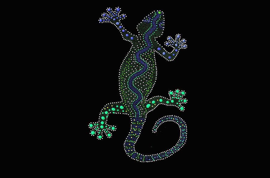 Lizard Art - Digital Art by Ericamaxine Price