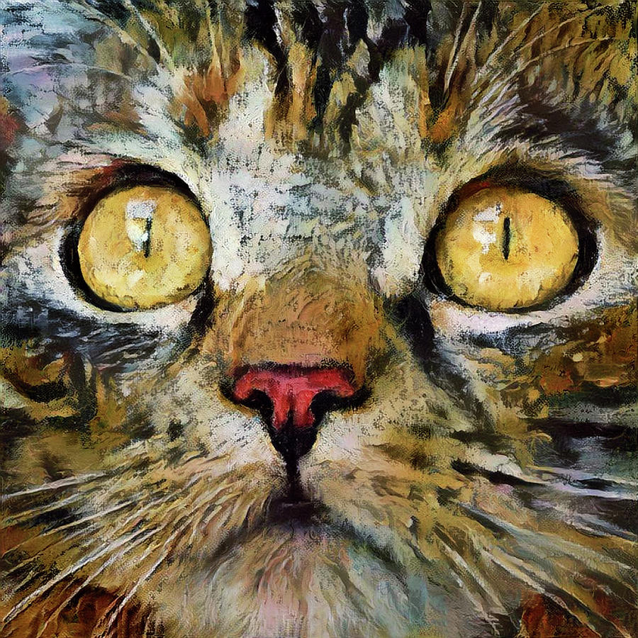 Lizzy the Brown Tabby Cat by Peggy Collins
