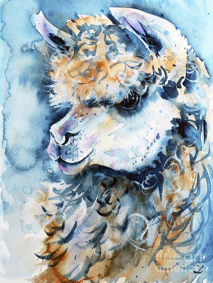 Llama by Zaira Dzhaubaeva