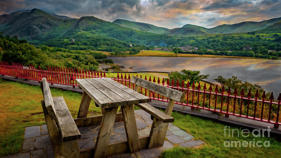 Snowdon Photograph - Llanberis Lake Viewpoint Snowdonia by Adrian Evans
