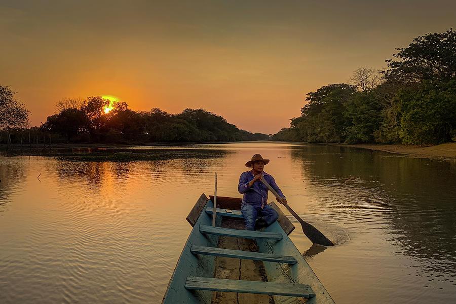 Llano Sunset Hato Berlin Casanare Colombia by Adam Rainoff