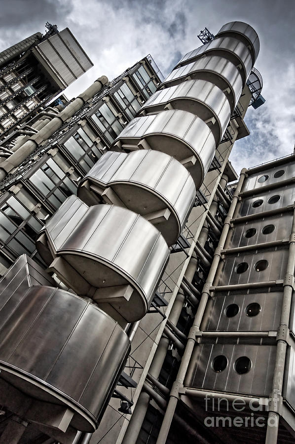 Lloyd Photograph - Lloyds Building In London by Delphimages Photo Creations