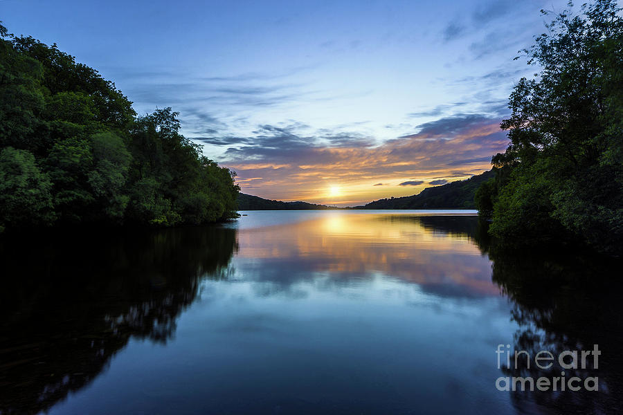 Llyn Padarn Sunset by Ian Mitchell