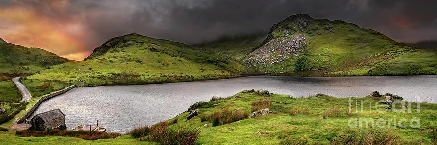 Llyn y Dywarchen Wales by Adrian Evans
