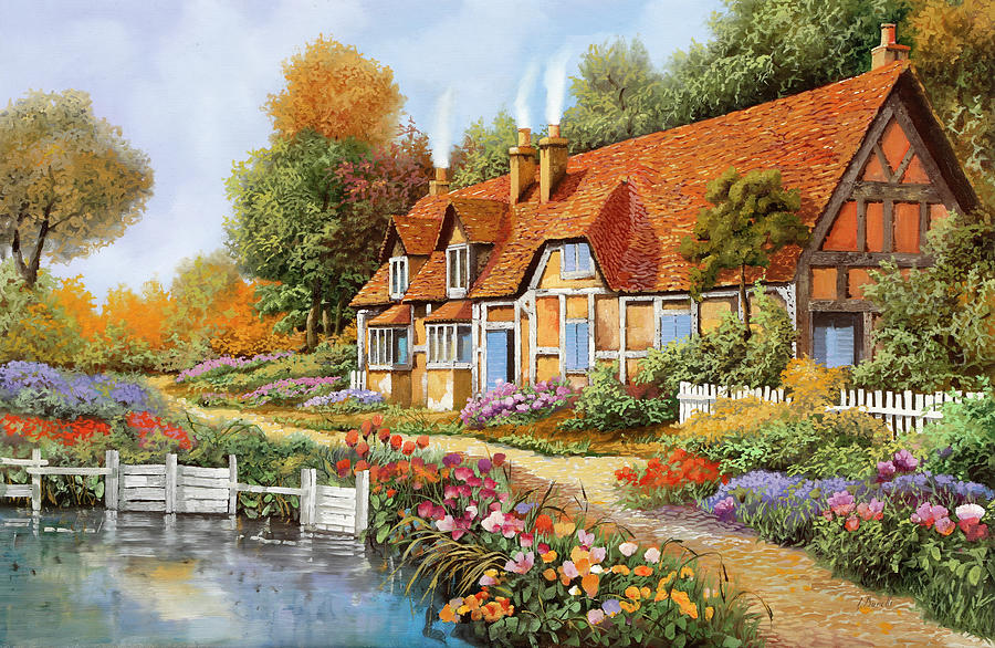 Lo Steccato Sul Fiume Painting