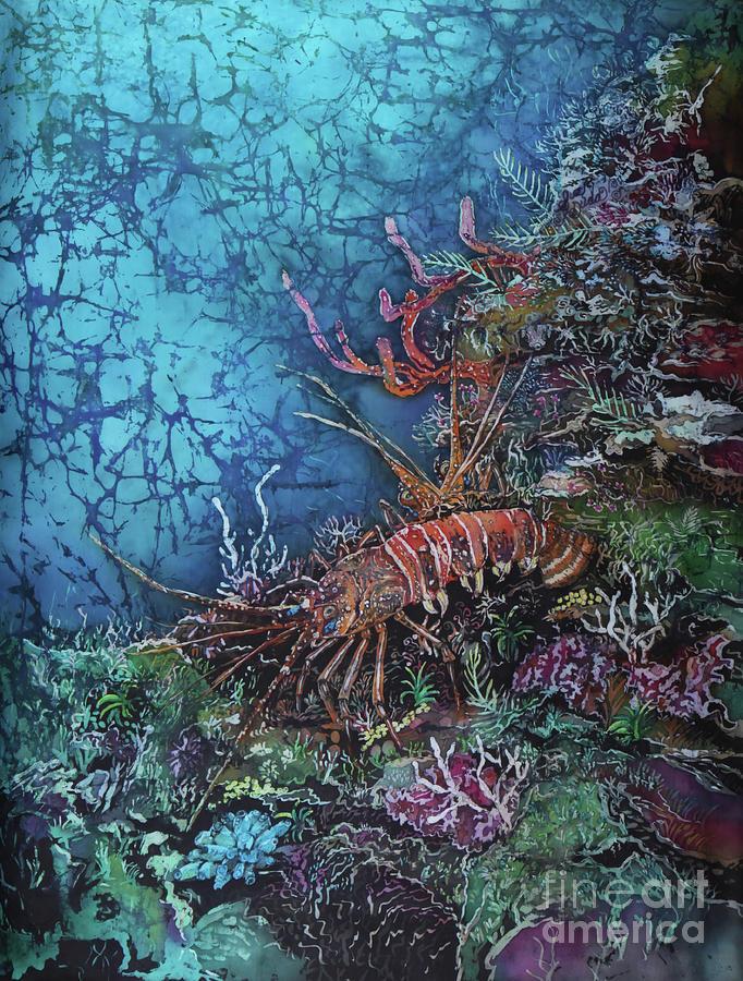 Lobsters Painting - Lobster Pair by Sue Duda