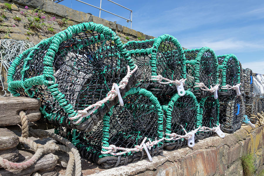 Lobster Pot Photograph - Lobster Pots by Steev Stamford