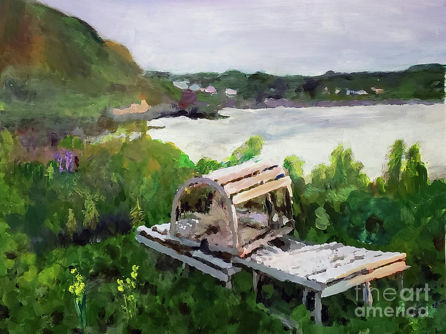 Lobster trap in Cape Breton by Donna Walsh