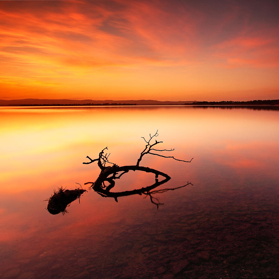 Loch Leven Sunset - Perthshire by Grant Glendinning