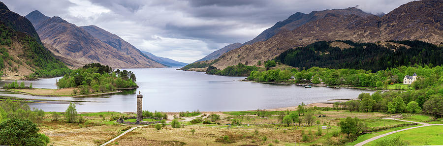 Loch Shiel And Glenfinnan Monument Photograph