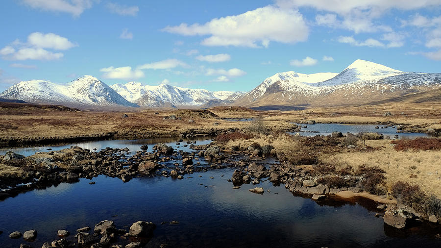 Lochan Na Stainge On Rannoch Moor Photograph by Andrew Lockie