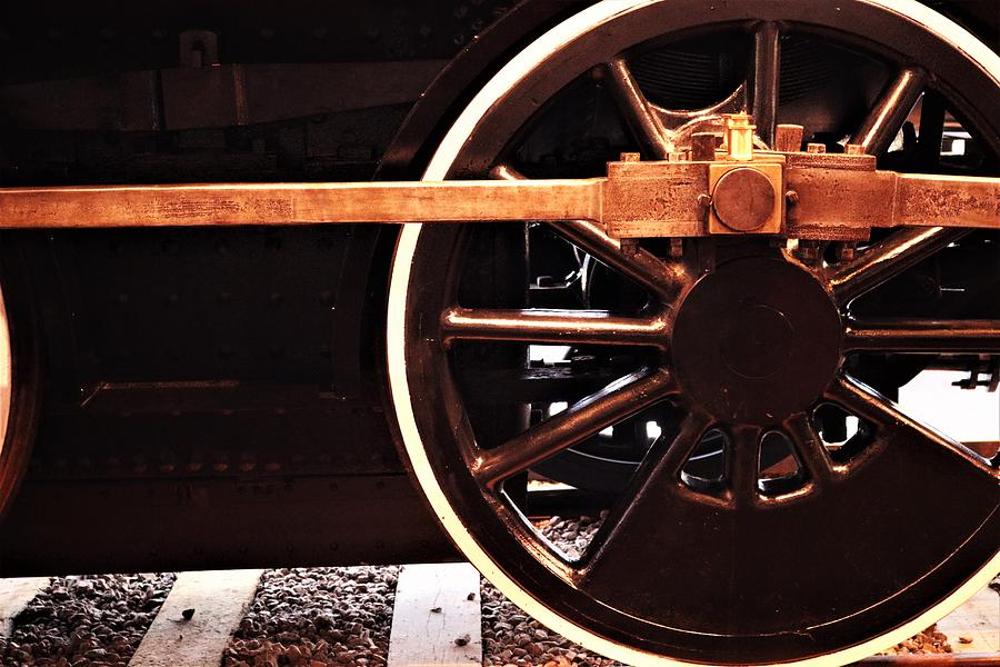 Locomotive Engine Wheel by Christopher James