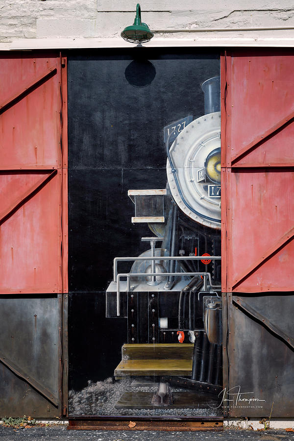 Locomotive Photograph - Locomotive In The Shed by Jim Thompson