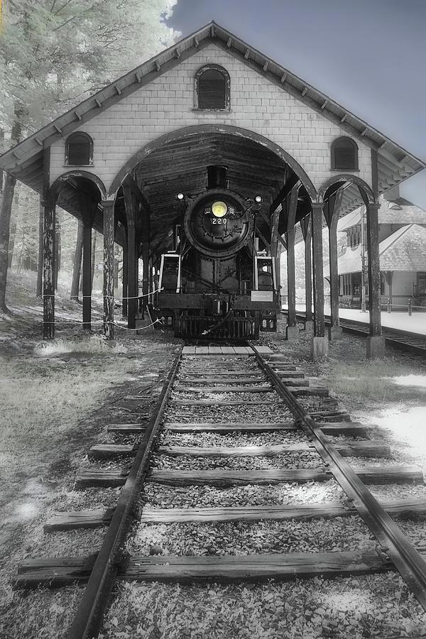 Locomotive on Track by Joann Vitali