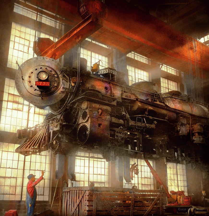 Locomotive - Repair - Flying trains hidden dangers 1943 by Mike Savad