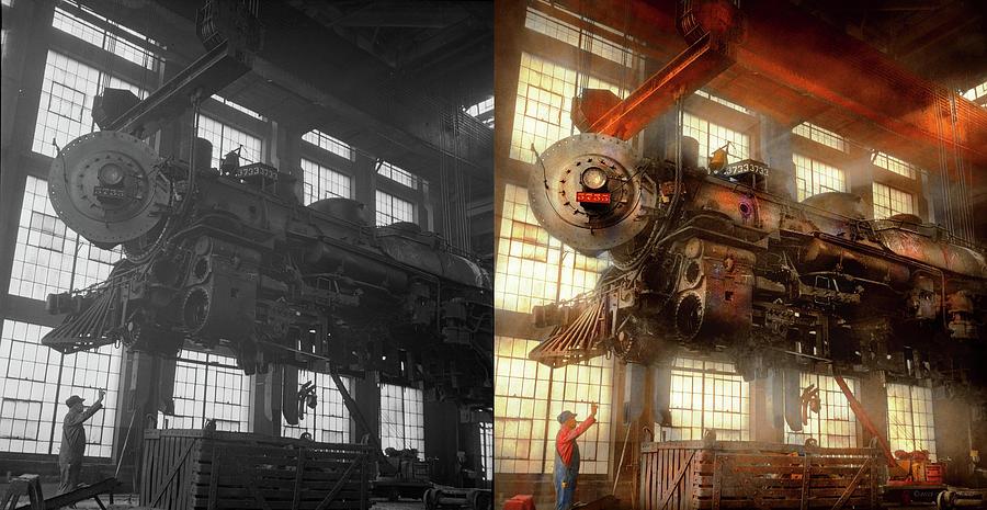 Locomotive - Repair - Flying trains hidden dangers 1943 - Side by Side by Mike Savad