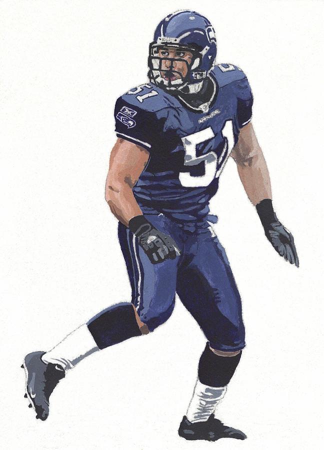 Lofa Tatupu No. 51. Acrylic painting of Lofa Tatupu from the Seattle  Seahawks ... c08a91e00