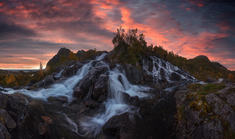 Lofoten Waterfall Photograph by Carlos F. Turienzo