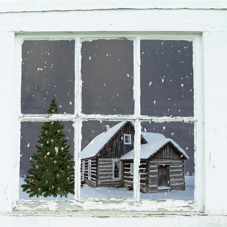 Log Cabin Window by Marilyn Wilson