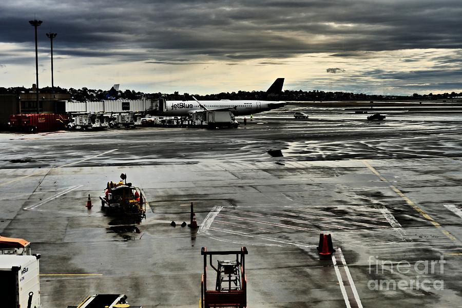 Logan Airport Overcast Day Photograph
