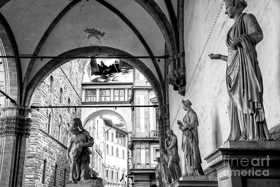 Loggia Dei Lanzi Photograph - Loggia Dei Lanzi Statues Florence by John Rizzuto