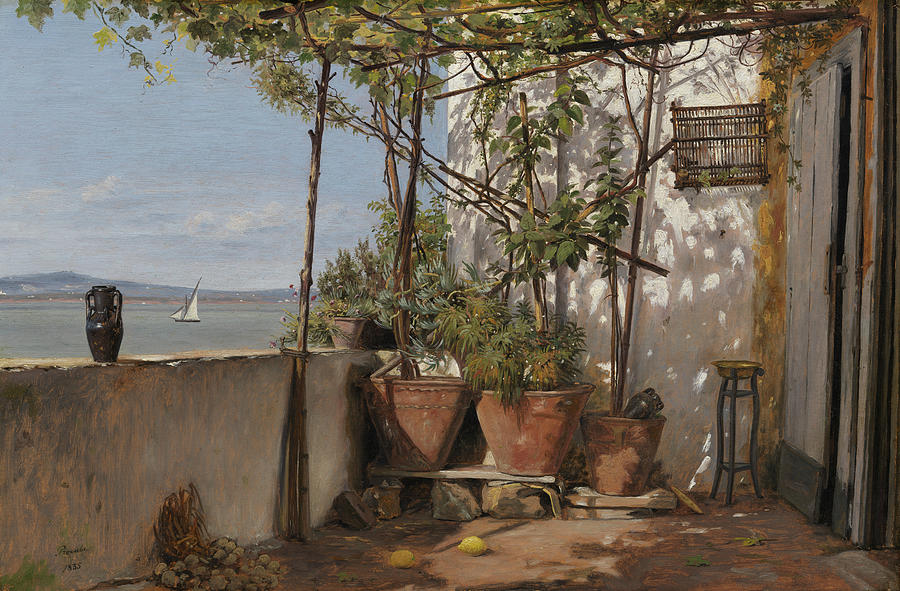 Loggia on Procida by Martinus Rorbye