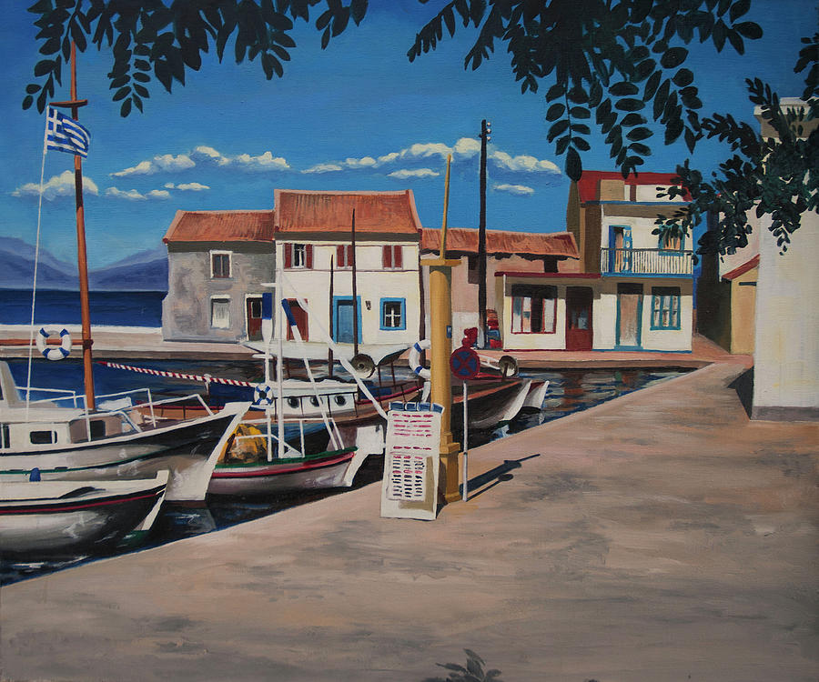 Loggos harbour 1988 by Nop Briex