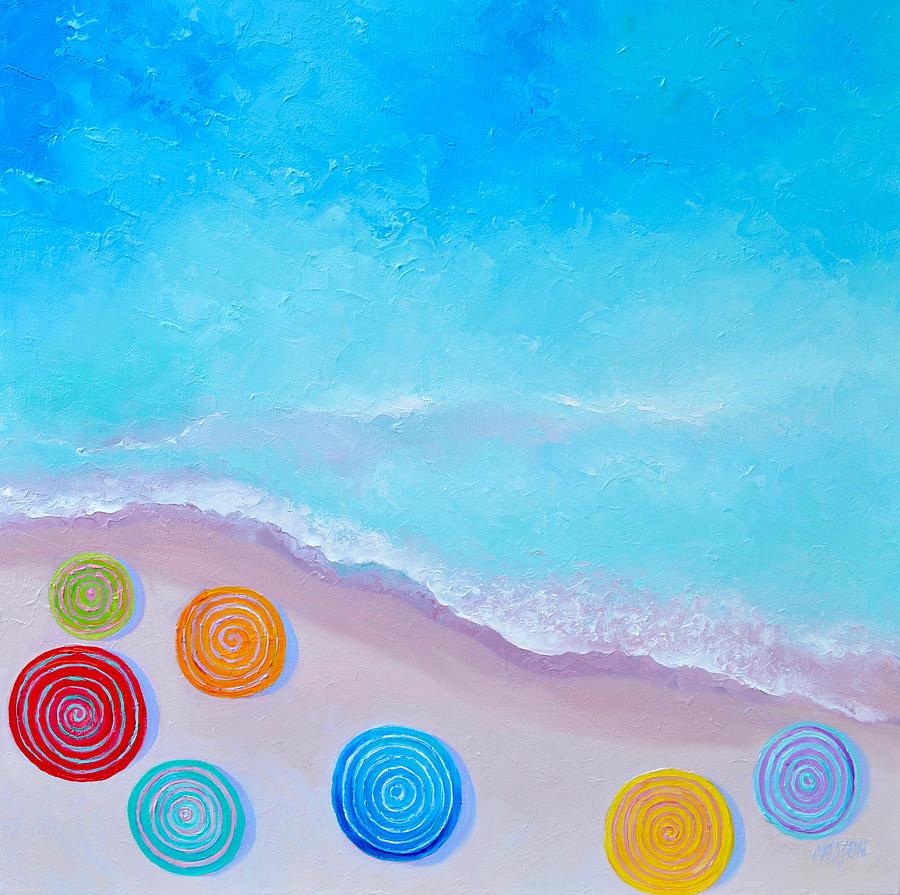 Lollipop Beach Umbrellas by Jan Matson