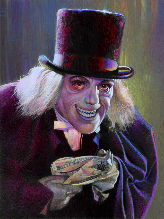 Lon Chaney Pastel - Lon Chaney In London After Midnight by David Robinson