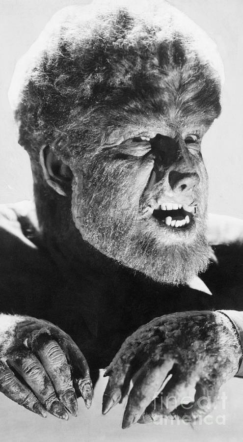 Lon Chaney Jr. As The Wolf Man Photograph by Bettmann