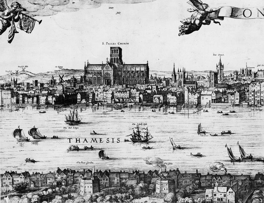 London 1616 Digital Art by Hulton Archive