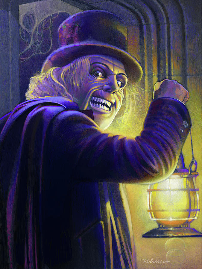 Lon Chaney Pastel - London After Midnight by David Robinson