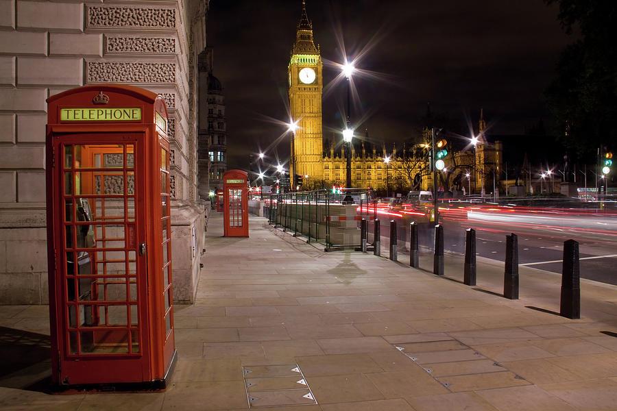 London At Night Photograph by Simon Podgorsek