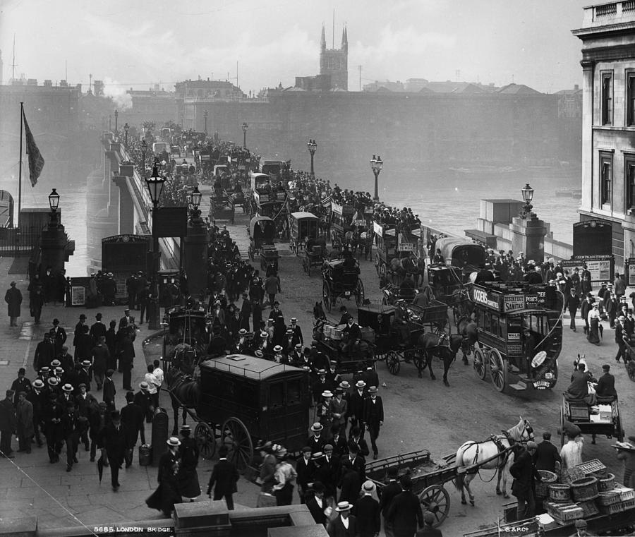 London Bridge Photograph by London Stereoscopic Company