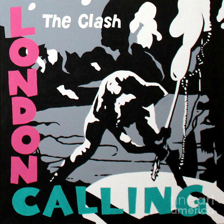 London Calling Painting - London Calling The Clash by Amy Belonio