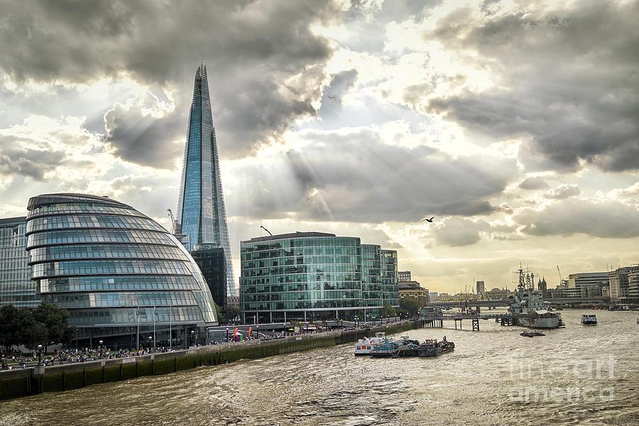Symbol Photograph - London City Hall At Sunset by Aleksandra H. Kossowska