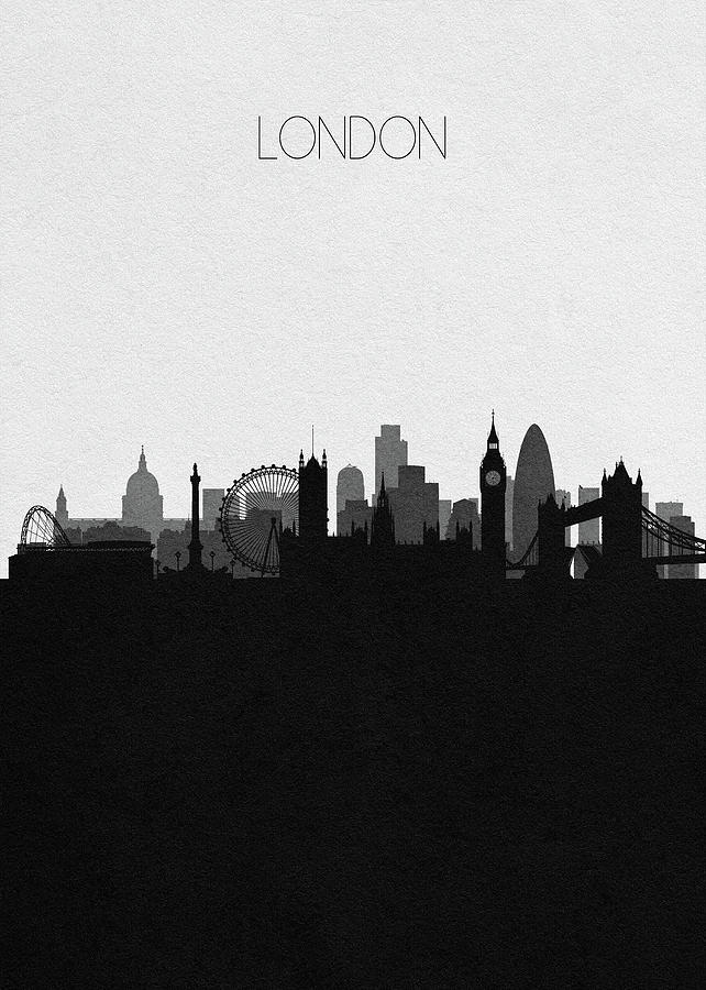 London Digital Art - London Cityscape Art by Inspirowl Design