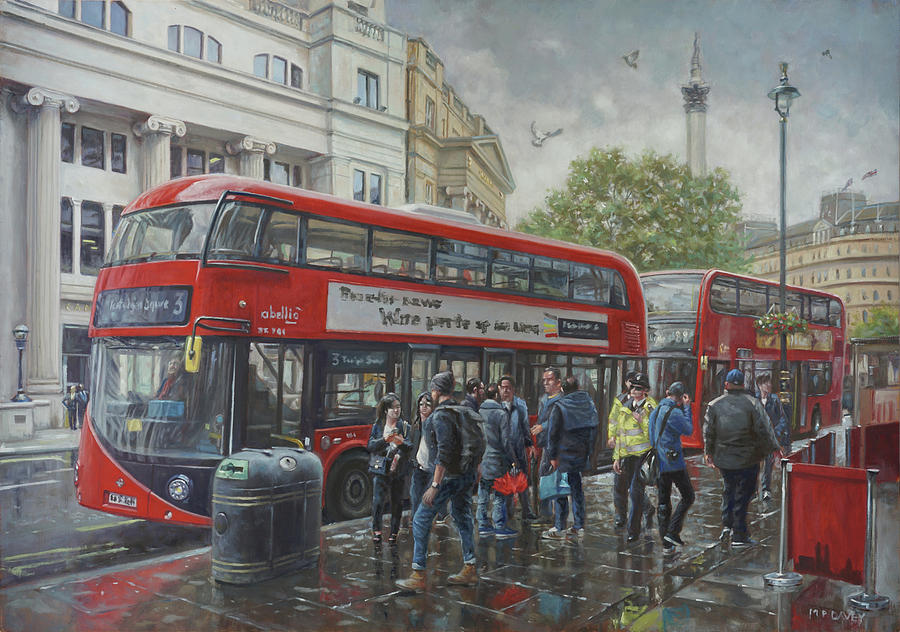 London Cockspur Street bus stop by Martin Davey