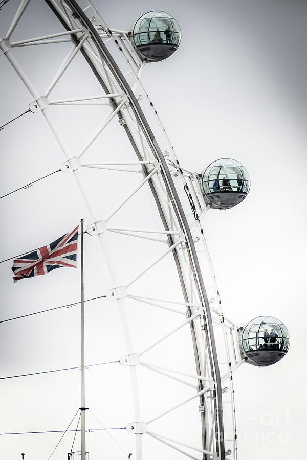 London Eye and Union Jack by Arnaldo Tarsetti