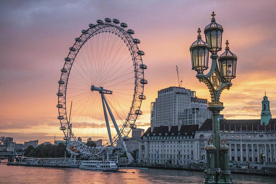 London Eye at Sunrise by John McGraw