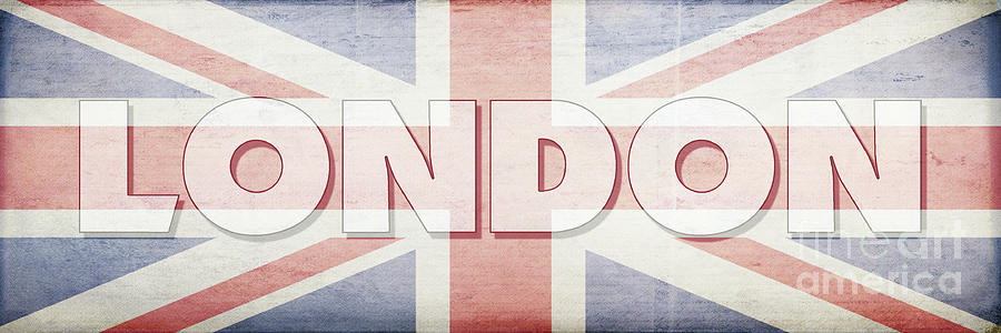 London Digital Art - London Faded Flag Design by Edward Fielding