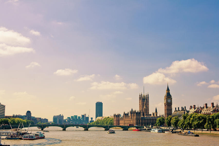 London Landmarks, Big Ben And House Of Photograph by Zodebala
