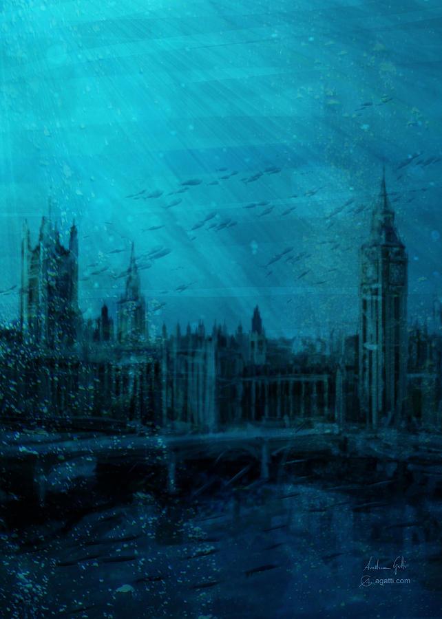 London Portrait Sea Digital Art